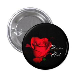 Flower Girl 1 Inch Round Button