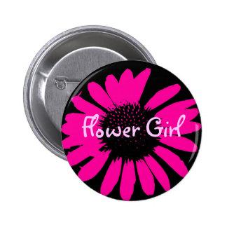 Flower Girl 2 Inch Round Button