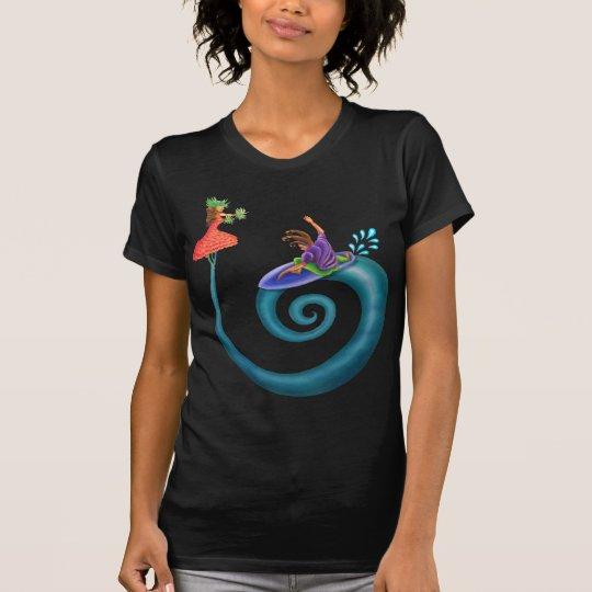 Flower Girl and Surfer Boy T-Shirt