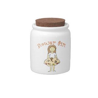 Flower Girl Autumn Wedding Candy Jars