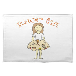 Flower Girl Autumn Wedding Cloth Placemat