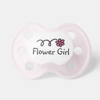 Flower girl baby pacifier | Girly pink daisy print