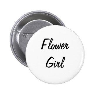 Flower Girl Badge Pinback Button