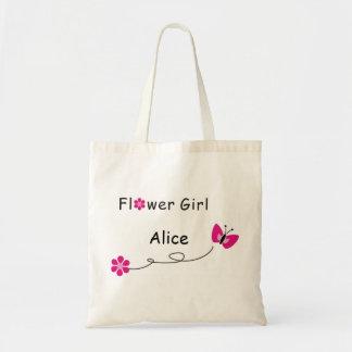 Flower Girl bag-butterfly Budget Tote Bag