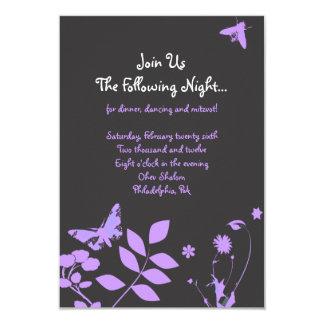 Flower Girl Bar Bat Mitzvah Invitation Party Card