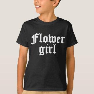 Flower Girl Black & White T-Shirt