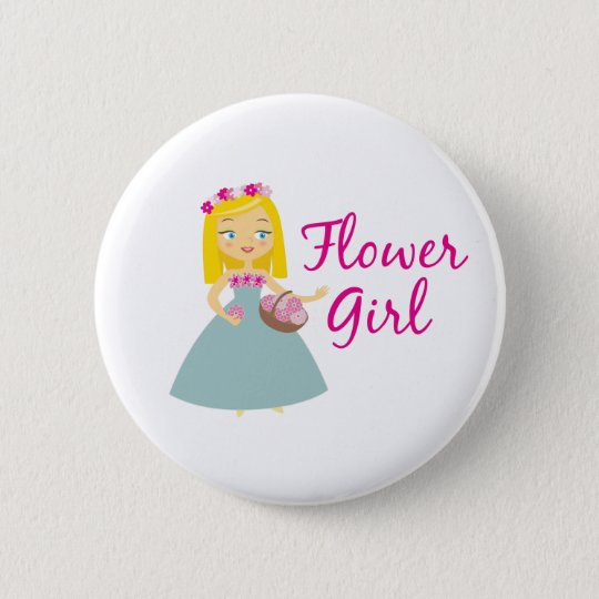 Flower Girl Blonde Button