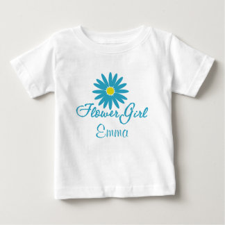 Flower Girl/ Blue Daisy Baby T-Shirt