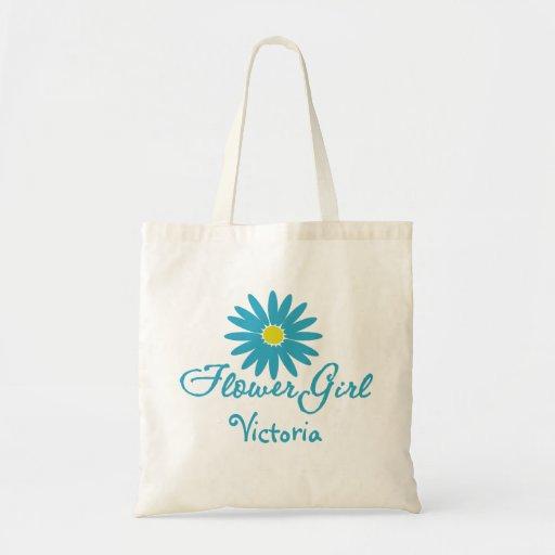 Flower Girl/ Blue Daisy Tote Bag