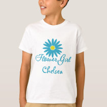 Flower Girl/ Blue Daisy T-Shirt