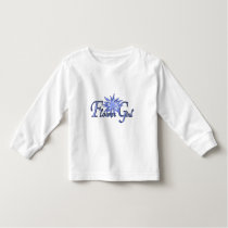 Flower Girl Blue Personalized Long Sleeve Toddler T-shirt