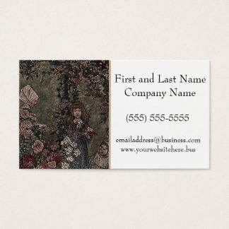 Flower Girl Briar Rose Princess Fairy Tale Garden Business Card