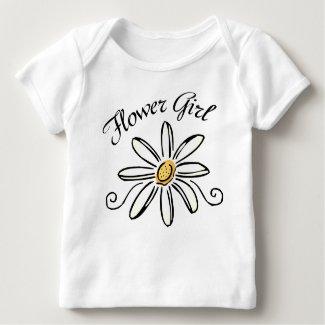 Flower Girl baby tee