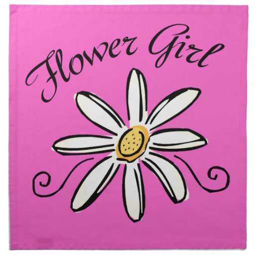 Flower Girl Bridal Party Cloth Napkins