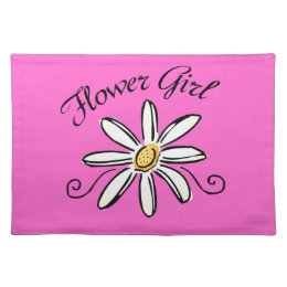 Flower Girl Bridal Party Cloth Placemat