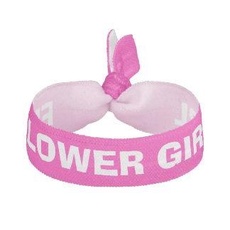 Flower Girl Bridesmaid pink personalized Elastic Hair Tie