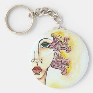 Flower Girl Button Keychain