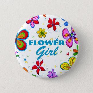Flower Girl Button/Pin Pinback Button