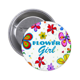 Flower Girl Button/Pin Pinback Button