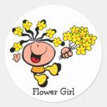 Flower Girl cartoon Sticker