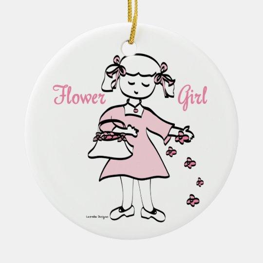 Flower Girl Ceramic Ornament