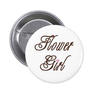 Flower Girl Classy Browns Buttons