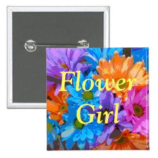 """Flower Girl"" - Crazy Daisies (1) Pins"