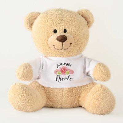Baby Blue Happy Birthday Personalized Teddy Bear Zazzle Com