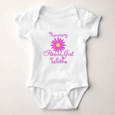 Flower Girl Daisy/ Pink Baby Bodysuit