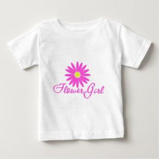 Flower Girl Daisy/ Pink Baby T-Shirt