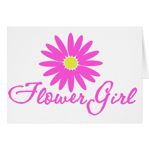 Flower Girl Daisy/ Pink Greeting Card