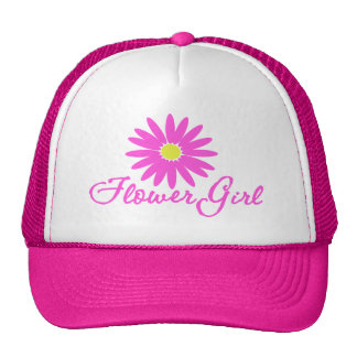 Flower Girl Daisy/ Pink Mesh Hats
