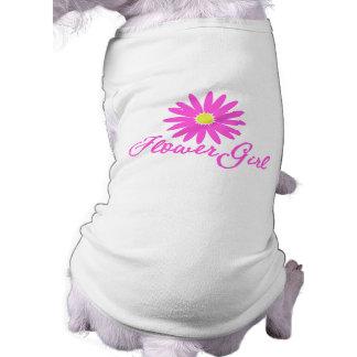 Flower Girl Daisy/ Pink Pet T Shirt