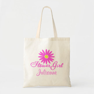 Flower Girl Daisy/ Pink Tote Bag