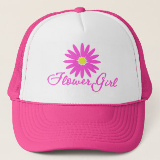Flower Girl Daisy/ Pink Trucker Hat