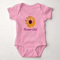 Flower Girl Daisy Wedding Baby Bodysuit