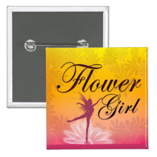 Flower Girl Dancing Fairy Pinback Button