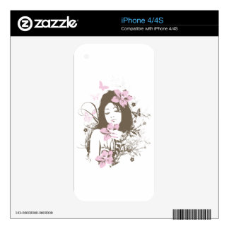 Flower Girl Decals For The iPhone 4S