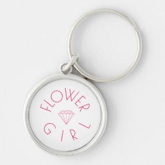 Flower Girl Diamond Pink Keychain