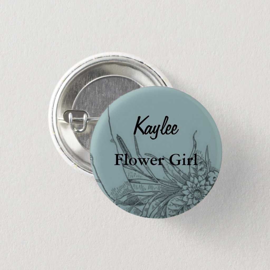 Flower Girl Flair Button