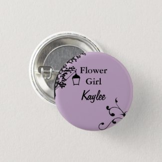 Flower Girl Flair Pinback Button
