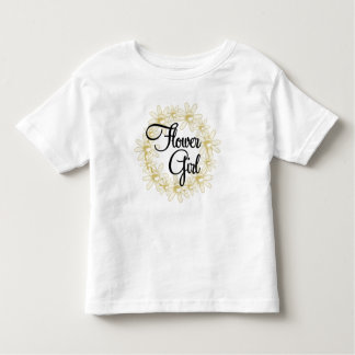 Flower Girl Floral Circle T-shirt