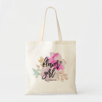 Flower Girl Floral Posie Tote Bag