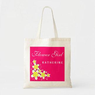 Flower Girl Frangipani Floral Budget Tote Bag Canvas Bags