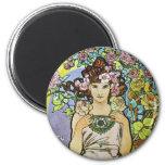 Flower Girl Fridge Magnet