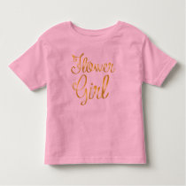 Flower Girl Gold Pink Tee Shirt