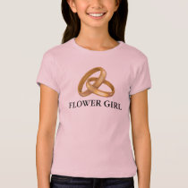 Flower Girl Gold Wedding Rings Clipart Shirt