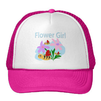 Flower Girl Mesh Hats
