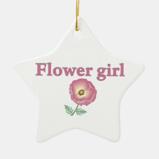 Flower Girl II Ceramic Ornament