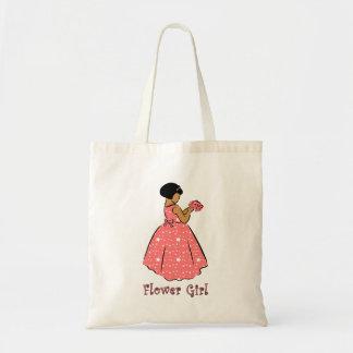 Flower Girl in Coral Tote Bag